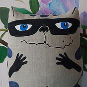 Куклы и игрушки ручной работы. Ярмарка Мастеров - ручная работа Игрушка-подушка енотик Эдуард. Handmade.