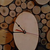 Для дома и интерьера ручной работы. Ярмарка Мастеров - ручная работа Часы-спил. Handmade.