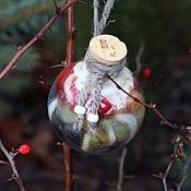 """Подарки к праздникам ручной работы. Ярмарка Мастеров - ручная работа Зачарованный Ёлочный шар """"Тёплый"""", Рождественский подарок. Handmade."""
