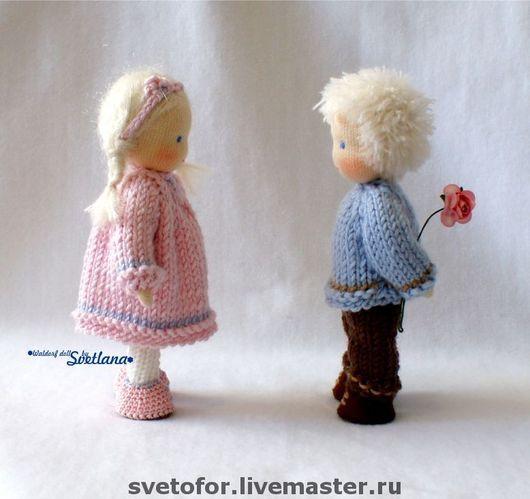 Вальдорфская игрушка ручной работы. Ярмарка Мастеров - ручная работа. Купить Герда и Кай, 12 см. Handmade. Вальдорфская кукла