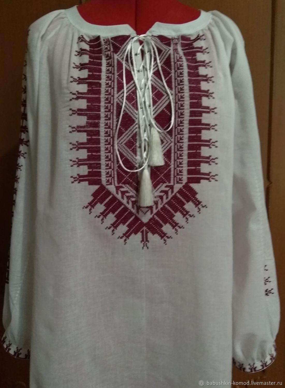 Women's embroidered shirt 'Forgotten history' ZhR4-128, Blouses, Temryuk,  Фото №1