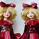Коллекционные куклы ручной работы. Ярмарка Мастеров - ручная работа. Купить Ленточка и Бусинка. Handmade. Клоунесса, подарок на новый год