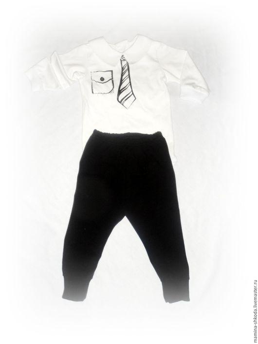 Одежда для мальчиков, ручной работы. Ярмарка Мастеров - ручная работа. Купить Костюм для маленького джентльмена))). Handmade. Чёрно-белый