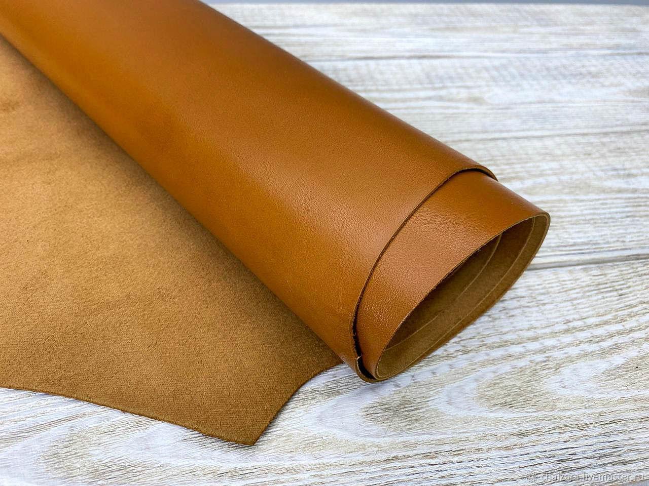 Натуральная кожа 1.2-1.4 мм Boulanger Brown, Кожа, Оренбург,  Фото №1