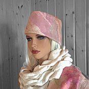 """Аксессуары handmade. Livemaster - original item Cap """"Summer snow """". Handmade."""