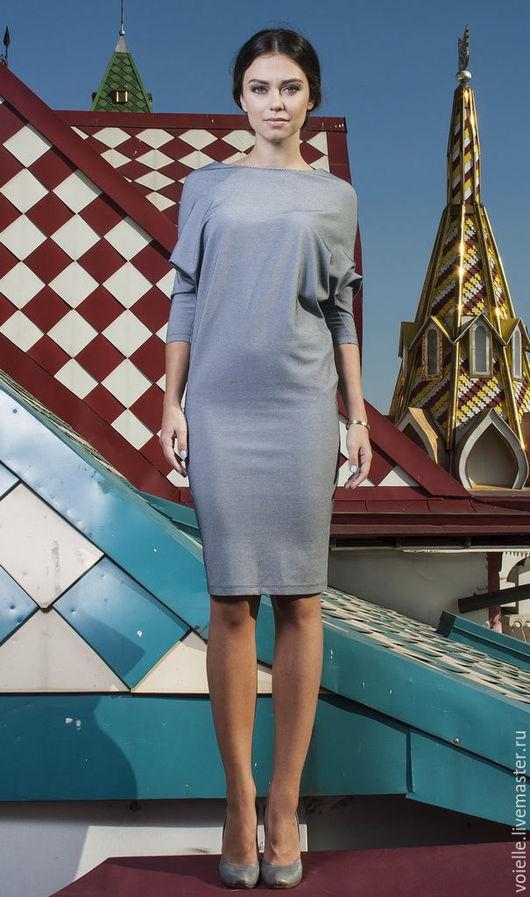 Платье трансформер `Ромб`, платье женское, платье MustHave платье из джерси вискоза хлопок, платье из вискозы платье темно-синее элегантное дизайнерское платье стильное платье красивое