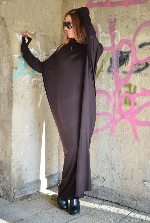 Long Maxi cotton dress, closed dress - DR0084TR, Dresses, Sofia,  Фото №1
