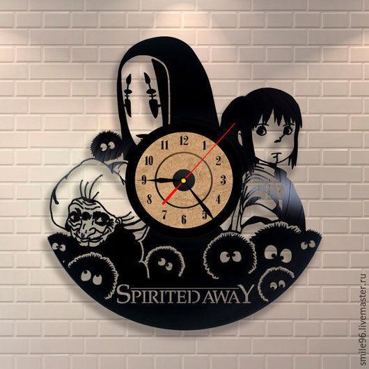 """Часы для дома ручной работы. Ярмарка Мастеров - ручная работа. Купить Часы из пластинки """"Унесённые призраками"""". Handmade. Комбинированный, часы"""
