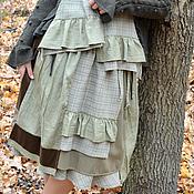 """Одежда ручной работы. Ярмарка Мастеров - ручная работа Юбка """"Бохо оливковый"""". Handmade."""