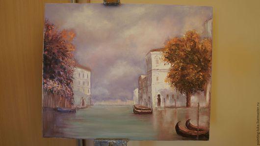 """Город ручной работы. Ярмарка Мастеров - ручная работа. Купить Картина маслом """"Осень в Венеции"""". Handmade. Комбинированный, картина"""