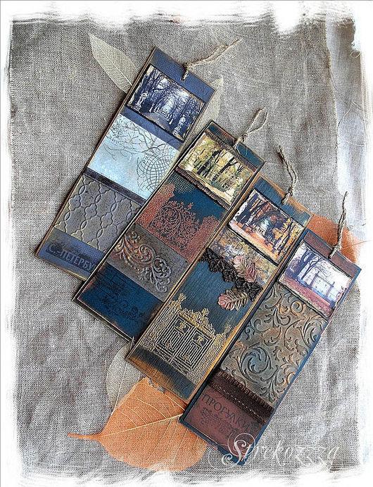 """Закладки для книг ручной работы. Ярмарка Мастеров - ручная работа. Купить Коллекция закладок """"Воспоминания о Летнем Саде"""" (2). Handmade."""