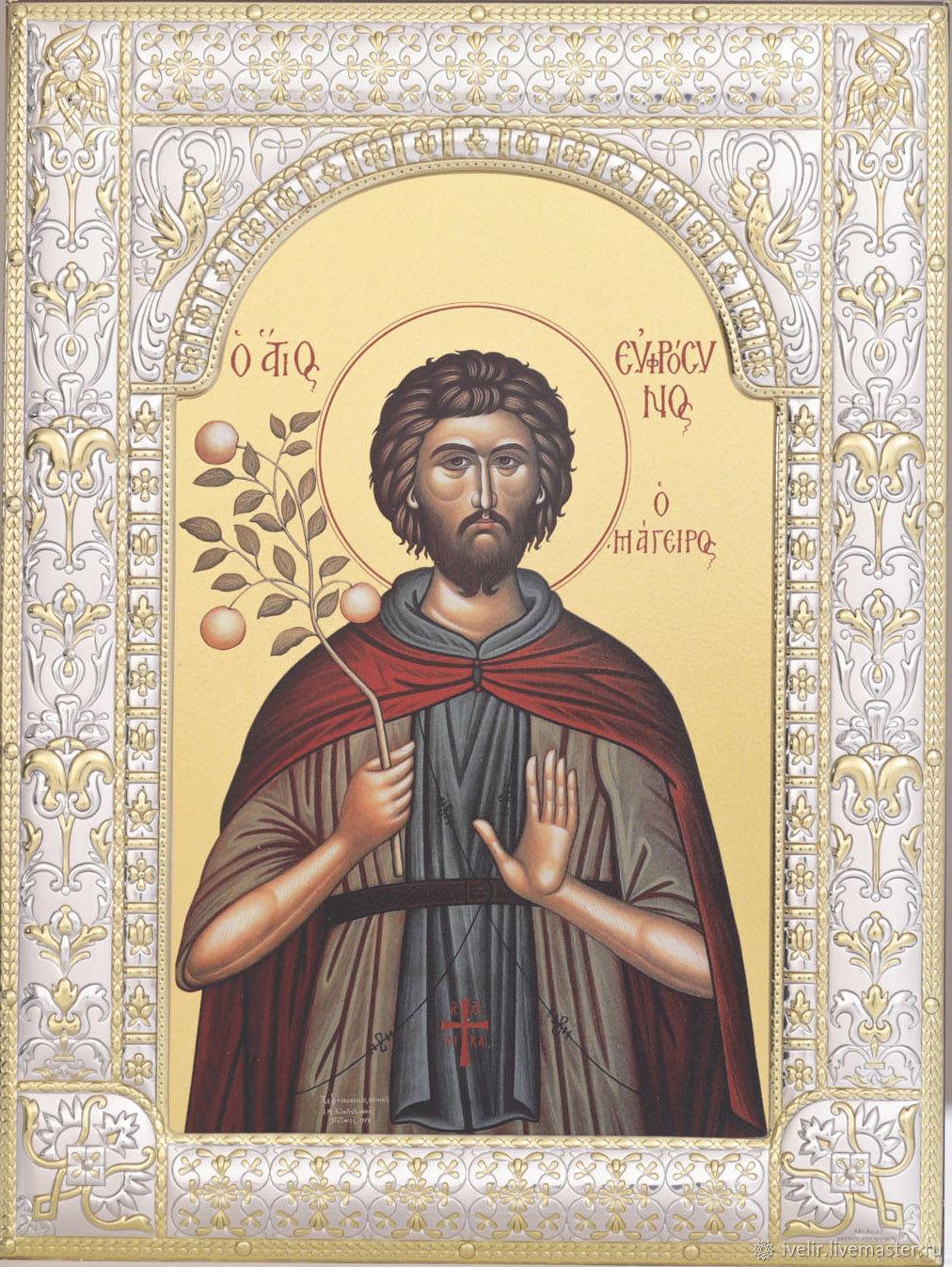 Saint Euphrosyne of Palestine (18h24cm), Icons, Moscow,  Фото №1