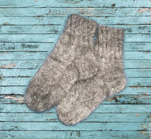 Носки, Чулки ручной работы. Ярмарка Мастеров - ручная работа. Купить носки из собачьей шерсти. Handmade. Серый