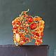 Браслеты ручной работы. Ярмарка Мастеров - ручная работа. Купить Браслет  Сердоликовый Полдень. Handmade. Оранжевый, модерн, золотистое