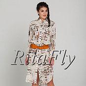 Одежда ручной работы. Ярмарка Мастеров - ручная работа 304: летняя рубашка удлиненная, длинная рубашка платье женская. Handmade.