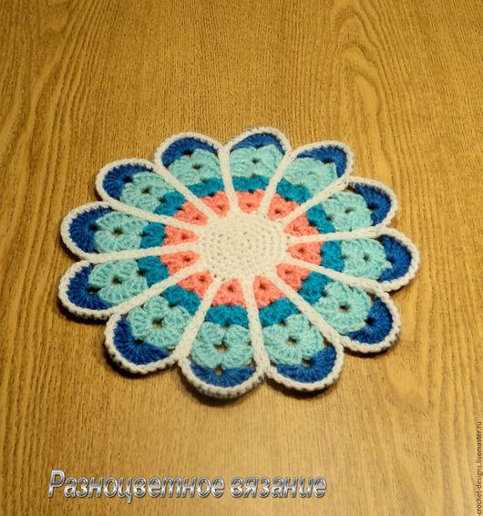 Текстиль, ковры ручной работы. Ярмарка Мастеров - ручная работа. Купить Вязаная крючком салфетка-мандала. Handmade. Подарок для женщины
