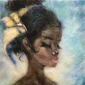 Картины и панно ручной работы. Ярмарка Мастеров - ручная работа Картина из шерсти Камария. Handmade.