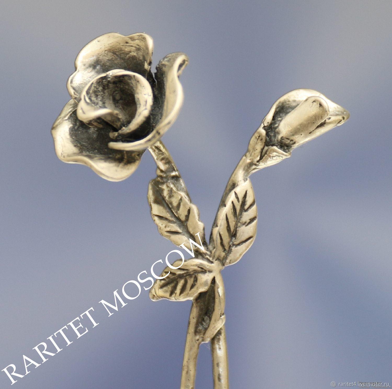 Винтажные предметы интерьера. Ярмарка Мастеров - ручная работа. Купить Винтаж: Цветок роза фигурка серебро 800 22. Handmade.