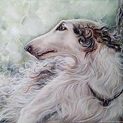 Картины и панно handmade. Livemaster - original item Oil painting of a Greyhound. Handmade.