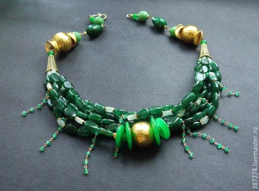 Колье, бусы ручной работы. Ярмарка Мастеров - ручная работа. Купить GRIN jewelry. Handmade. Jewelry, франческа гончарова, подарок
