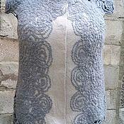 """Одежда ручной работы. Ярмарка Мастеров - ручная работа Жилет """"Стальная роза"""", валяный. Handmade."""