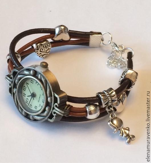 """Часы ручной работы. Ярмарка Мастеров - ручная работа. Купить Часы """"Стильные"""". Handmade. Украшения ручной работы, кожа натуральная"""