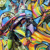Материалы для творчества ручной работы. Ярмарка Мастеров - ручная работа - 25% от цены ! Ткань шелк вискоза. Handmade.