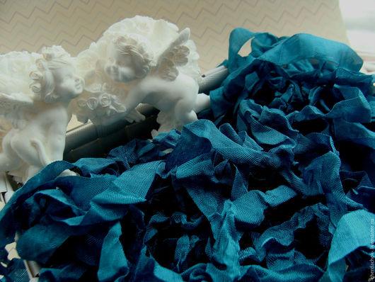 Открытки и скрапбукинг ручной работы. Ярмарка Мастеров - ручная работа. Купить Шебби-лента Гламурный павлин. Handmade.