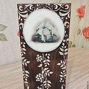 Для дома и интерьера ручной работы. Ярмарка Мастеров - ручная работа Медведь, ключница, вешалка из массива дерева. Handmade.
