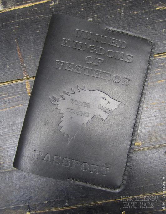Обложки ручной работы. Ярмарка Мастеров - ручная работа. Купить Обложка для паспорта. Handmade. Черный, обложка для паспорта, обложка для документов