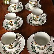 Винтаж handmade. Livemaster - original item Coffee set 6 pairs., Villeroy&Boch Botanica, Luxembourg. Handmade.