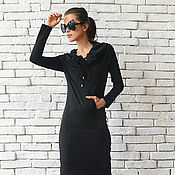 Одежда handmade. Livemaster - original item Copy of Black Maxi Dress. Handmade.