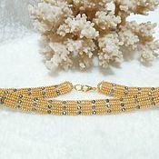 Chokers handmade. Livemaster - original item Gold luxury beaded choker necklace. Handmade.
