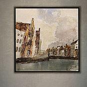 Картины и панно handmade. Livemaster - original item Picture Cold (city, Europe, gray, sand). Handmade.