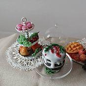Кукольная еда ручной работы. Ярмарка Мастеров - ручная работа Кукольная еда: новогодняя и рождественская миниатюра. Handmade.