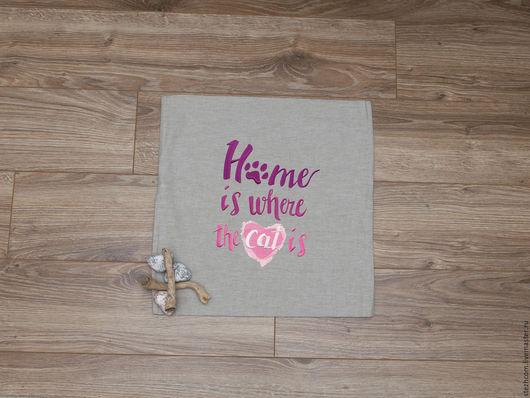 Текстиль, ковры ручной работы. Ярмарка Мастеров - ручная работа. Купить Декоративная наволочка (декоративные наволочки на подушки). Handmade. Серый