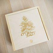 Упаковочная коробка ручной работы. Ярмарка Мастеров - ручная работа Коробка пенал деревянная. Handmade.