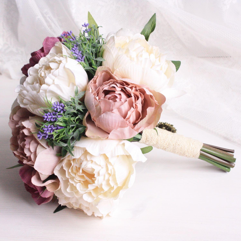 Букет пионов на свадьбу цветы искусственные где купить на рынке