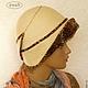 """Шляпы ручной работы. Ярмарка Мастеров - ручная работа. Купить Шляпка валяная """"Илона"""" бежевая коричневая. Handmade. Бежевый, эксклюзивная"""
