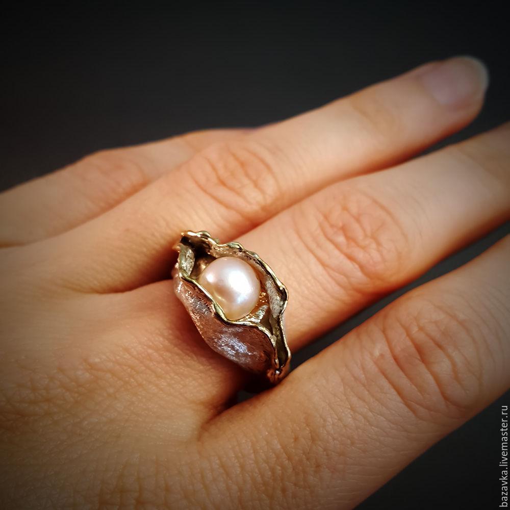Ирина Великанова. Интернет · Кольца ручной работы. Заказать Серебряное  кольцо с жемчугом