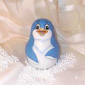 Куклы и игрушки handmade. Livemaster - original item Roly-poly Penguin Lolo adventures of penguin Lolo. Handmade.