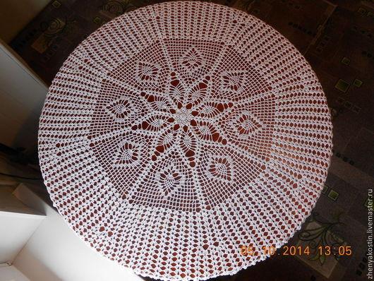 Текстиль, ковры ручной работы. Ярмарка Мастеров - ручная работа. Купить Скатерть крючком. Handmade. Белый, скатерть ручной работы