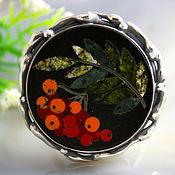 Украшения handmade. Livemaster - original item Ring Ryabinka - plating, silver. Handmade.