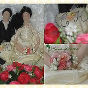 Куклы и игрушки ручной работы. Ярмарка Мастеров - ручная работа Тильды молодожены. Handmade.