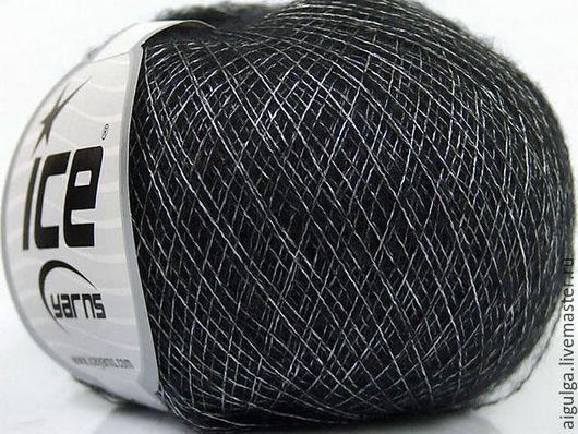 Вязание ручной работы. Ярмарка Мастеров - ручная работа. Купить Пряжа  Ice Yarns Merino Shine. Handmade. Черный