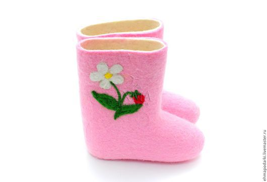 Обувь ручной работы. Ярмарка Мастеров - ручная работа. Купить Валенки Ягодки. Handmade. Детские валенки, дизайнерские валенки, войлок