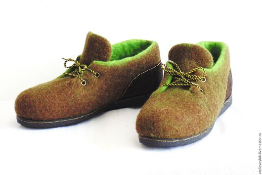 Обувь ручной работы. Ярмарка Мастеров - ручная работа. Купить Женские осенние туфли, готовая пара.. Handmade. Коричневый