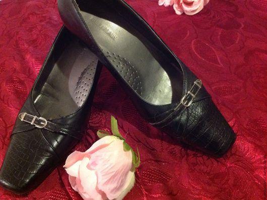 """Винтажная обувь. Ярмарка Мастеров - ручная работа. Купить Итальянские винтажные туфли """". Handmade. Черный, итальянская кожа"""