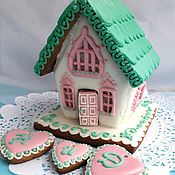 Сувениры и подарки handmade. Livemaster - original item Gingerbread house mini Gingerbread house for Valentine`s Day. Handmade.