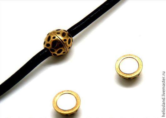 Для украшений ручной работы. Ярмарка Мастеров - ручная работа. Купить Магнитный замок Шар для круглых шнуров  4мм, 5 мм. Handmade.